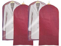 Husa pentru haine 60X135cm din materie, Bordeaux