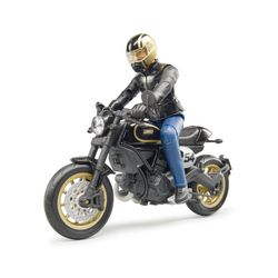 Мотоцикл Ducati Scrambler Cafe Racer с водителем, код 42313