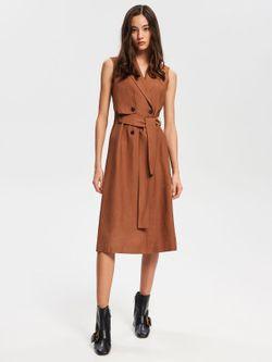 Платье RESERVED Коричневый vj491-84x