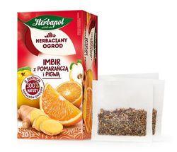 Чай фруктовый Tea Garden Ginger with Orange and Quince, 20 шт