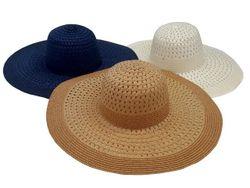 Шляпа женская летняя D47cm, одноцветная