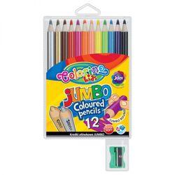 Цветные карандаши с точилкой COLORINO KIDS Jumbo, 12 цветов