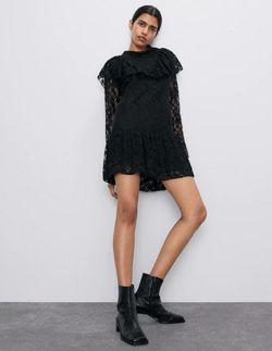 Платье ZARA Чёрный 4786/262/800