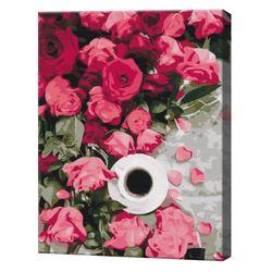 Trandafiri roz, 40х50 cm, pictură pe numere  BS51358