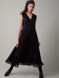Платье Massimo Dutti Черный с принтом 6694/897/700