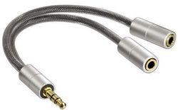 cumpără Cablu pentru AV Hama 106334 Jack 3,5 mm to 2x3,5 mm Socket în Chișinău