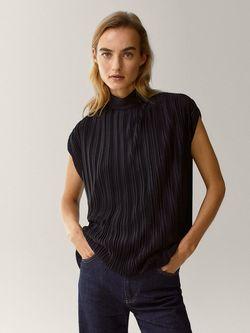 Блуза Massimo Dutti Чёрный 6856/665/800
