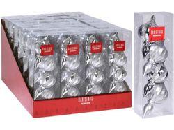 Набор украшений елочных 4шт Юла 11X6сm, пластик, серебрянный