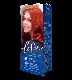 Vopsea p/u păr, ESTEL Love, 100 ml., 8/54 - Roșu-cupru