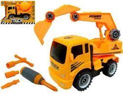 Машина строительная 4 вида желтая 26.5X18.5X12.5cm