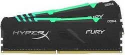 16 ГБ DDR4-3733 МГц Kingston HyperX FURY RGB (комплект из 2x8 ГБ) (HX437C19FB3AK2 / 16), CL19, 1,35 В, черный