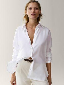 Блуза Massimo Dutti Белый 5176/509/250