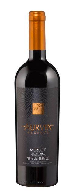Вино Резерва Мерло Аурвин, красное сухое, 0,75 л