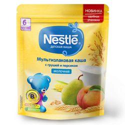 Каша мультизлак груша-персик с молоком Nestle, с 6 месяцев, 220г