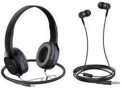 купить Наушники с микрофоном Hoco W24ENHWMPP / W24 Purple в Кишинёве