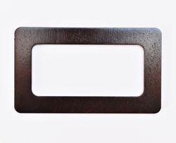 Mâner din lemn, cafeniu închis / 17x10 cm