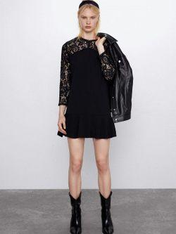 Платье ZARA Чёрный 4387/243/800