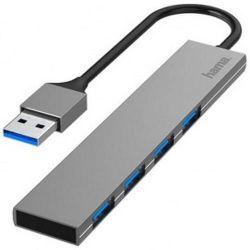 cumpără Adaptor IT Hama 200114 USB Hub, 4 Ports, USB 3.0, 5 Gbit/s, alu, Ultra-Slim în Chișinău