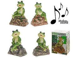 Лягушка декоративная со звуком H13cm