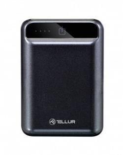 cumpără Acumulator extern USB (Powerbank) Tellur TLL158101 Powerbank 10000 mAh compacta neagra în Chișinău