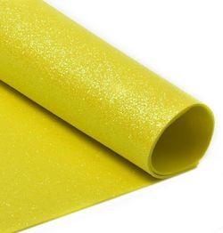 Foamiran cu sclipici Culoare: galben, A4