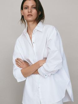 Блуза Massimo Dutti Белый 5148/548/250
