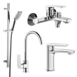 KAMPA набор смесителей (4 в 1) для ванны и кухни (05285+10285+55285+6607001) (ванная комната)