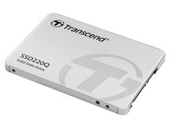2,5-дюймовый твердотельный накопитель SATA 500 ГБ Transcend «SSD220Q» [R / W: 550/500 МБ / с, 57/59000 операций ввода-вывода в секунду, SM2259XT, 3D-NAND QLC]