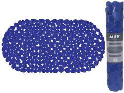 Коврик для ванны 39X99cm овал MSV Galets, синий, PVC
