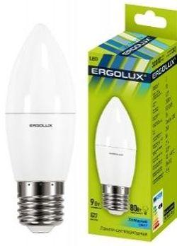 Светодиодная лампа Ergolux LED С35 9W E27 4500K 13171
