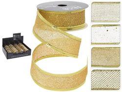 Лента декоративная 2.5cmX2.7m, золотая