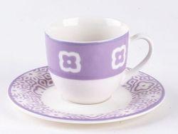 Cana pentru cafea 60ml cu farfurie Ambra, mov