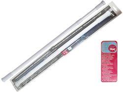 Tija glisanta pentru perdea MSV 110-200cm alba, aluminiu