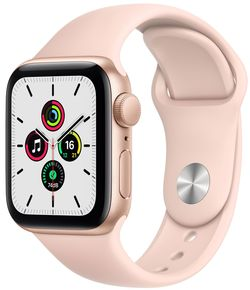 cumpără Ceas inteligent Apple Apple Watch SE 44mm Gold Aluminium Case with Pink Sand Sport Band (MYDR2) în Chișinău