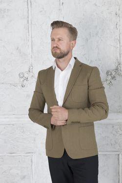 Пиджак мужской горчичный цвет