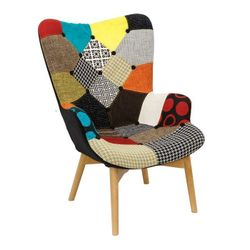 Деревянный стул с сиденьем из ткани, 760x720x980 мм