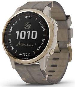 купить Смарт часы Garmin fenix 6S - Pro Solar Edition Light Gold with Shale Gray Suede Band в Кишинёве