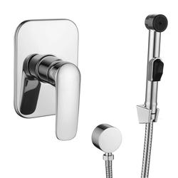PRAHA new набор (смеситель скрытого монтажа с гигиеническим душем)  (ванная комната)