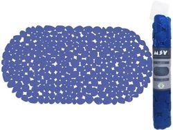Коврик для ванны 35X68cm MSV Galets овал, синий, PVC