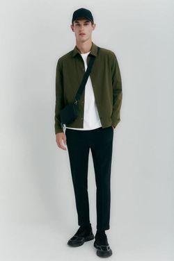 Рубашка ZARA Зеленый 4432/455/505