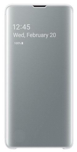 купить Чехол для моб.устройства Samsung EF-ZG973 Clear View Cover Beyound White в Кишинёве