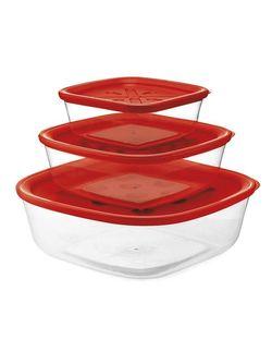 cumpără Container alimentare FORME CASA 263456 Набор из 3 пищевых контейнеров красный în Chișinău