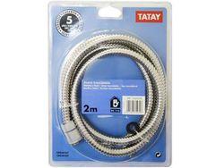 Furtun pentru dus Tatay 2m metalic, PVC