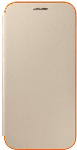 купить Чехол для моб.устройства Samsung EF-FA320, Galaxy A3 2017, Neon Flip Cover, Gold в Кишинёве