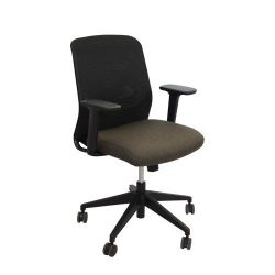 Scaun de birou 645x580x880 mm, negru cu maro