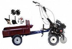 Набор мотоблок TECHNOWORKER HB 700S+Прицеп RK500 + плуг простой + плуг регулируемый + металлические колеса 4*8 + мотыга