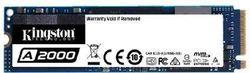 .M.2 NVMe SSD 500 ГБ Kingston A2000 [PCIe 3.0 x4, R / W: 2200/2000 МБ / с, 180/200 K IOPS, SM2263, 3DTLC]