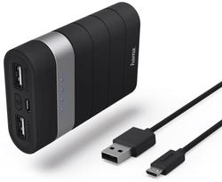 cumpără Acumulatoare externe USB Hama 77484 Trip Power Pack, 7800 mAh, black în Chișinău