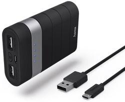 купить Аккумулятор внешний USB (Powerbank) Hama 77484 Trip Power Pack, 7800 mAh, black в Кишинёве
