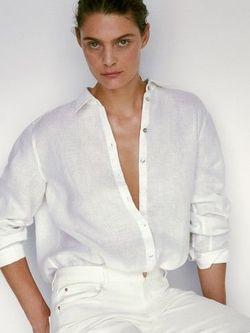 Блуза Massimo Dutti Белый 5100/512/250
